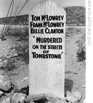 A tombstone on