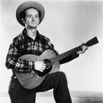 Woody Guthrie wrote songs about common people and social issues in the nineteen thirties.