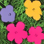 Andy Warhol was also well known for his many flower paintings.