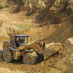 Rare earth mining in Jiangxi province, China in October